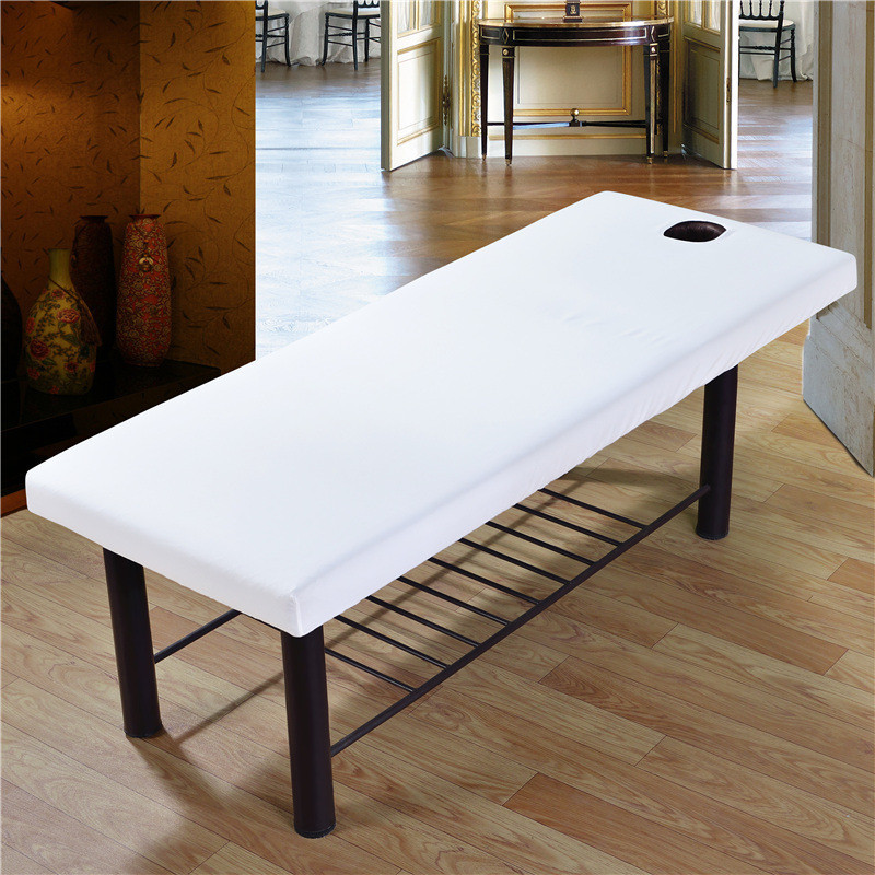 Beauty Salon Spa Bed Cover Sheet With Face Hole Skin Friendly Massage Table Cloth Polyester Bed