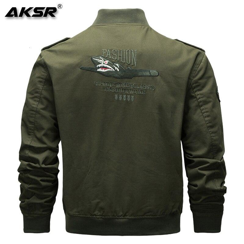 AKSR мужская куртка военная куртка Мужская модная одежда летная Куртка удобная, мягкая и эластичная ткань - 5