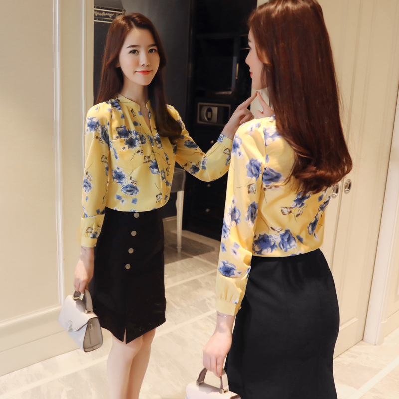 Fashion Woman Blouses 2021 Long Sleeve Print Chiffon Women Blouse Shirt Ladies Tops Feminine Blouses Women Shirt Blusas Z0001 40 6