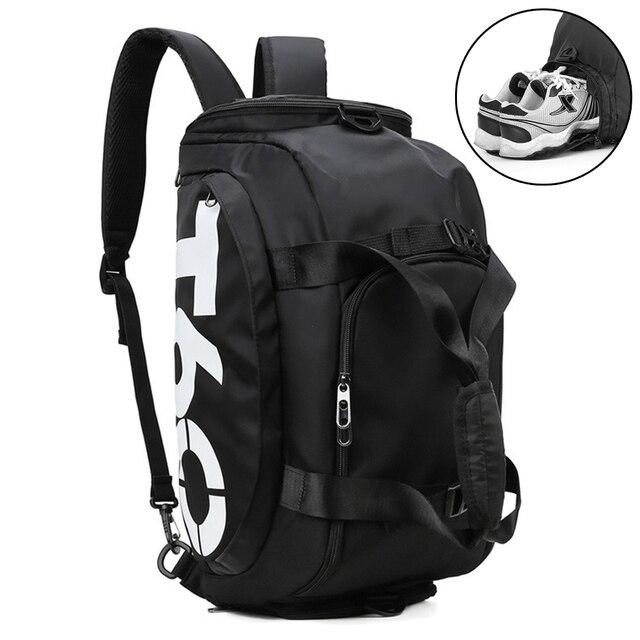 Dry Water Wet Separation Men Fitness Bag Waterproof Gym Sport Women Bag Outdoor Fitness Portable Ultralight Yoga Sports Bag