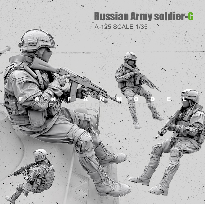 1/35(50mm) Resin Figure Kits Russian Modern Special Forces Soldier Self-assembled  A-125