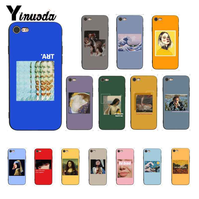 Yinuoda Great art aesthetic van Gogh Mona Lisa Coque โทรศัพท์กรณีสำหรับ iPhone X XS MAX 6 6s 7 7plus 8 8Plus 5 5S SE XR 11 Pro Max