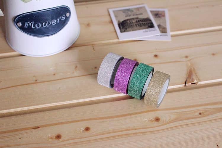 5M DIY Diri Perekat Glitter Washi Pita Kertas Stiker Ulang Tahun Pernikahan Festival Dekorasi Rumah Dekorasi