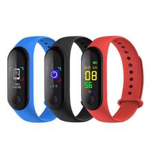 M3 Color Screen Smart Bracelet Fitness Tracker Step Counter Heart Rate Blood Pressure Sleep Monitoring Information(China)