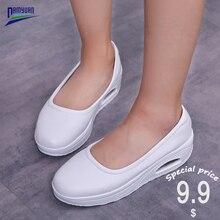 Платформа Damyuan Мелкой Обувь Женщины Плоские Мягкие Мокасины Дамы Свободного Покроя Обувь Де Mujer Дышащий Женский Воздушной Подушке Sapato Женщина Для