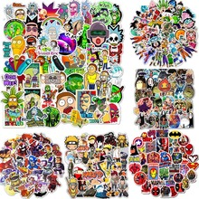 50pcs/set Cartoon Stickers Waterproof Cool Stickers For Skateboard Laptop Suitcase Motorcycle Car Decal Toys For Children