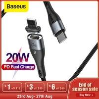 Baseus 20W Cavo USB C Magnetico per il iPhone 12 Pro Max X Veloce Cavo di Ricarica per il iPhone USB di Dati cavo di sincronizzazione Cavo Del Caricatore Del Telefono