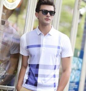 Image 2 - ZOGAA, летние мужские рубашки поло с коротким рукавом, хлопковые мужские рубашки поло в клетку, деловые повседневные топы, рубашки поло, мужские рубашки