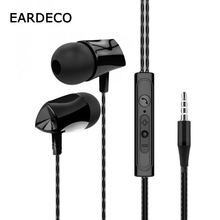 EARDECO In Ear Wired Headphones For Phone with Microphone Wire Earphone Earbud B