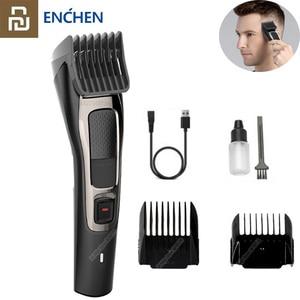 Image 1 - Youpin ENCHEN שארפ 3S שיער גוזז גברים חשמלי מכונת חיתוך מקצועי נמוך רעש Hairdress 1 20mm עבור למבוגרים וילדים