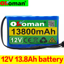 100% batterie 12V d'origine 13.8Ah 18650 Rechargeable Lithium Ion batterie capacité DC 12.6V 13800mAh CCTV Cam moniteur(China)