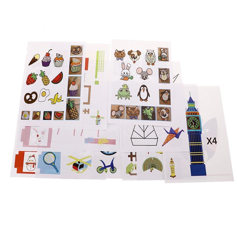 20 Pcs A4 Size Children Drawing 3D Copy Plate Random Paper Mold For Kids for 3D Printing Pen Drawing Stencils & Doodle XP