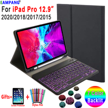 Backlit Keyboard Case For iPad Pro 12.9 2015 2017 2018 2020 1st 2nd 3rd 4th Light Detachable Bluetooth Pu Leather Cover Shell