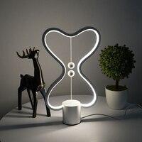 GTBL 7 renk Heng denge lamba LED gece lambası USB Powered ev dekor yatak odası ofis masası gece lamba ışığı