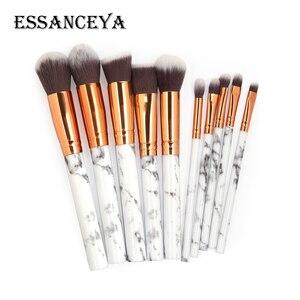 Image 2 - Набор кисточек для макияжа ESSANCEYA, набор кисточек для макияжа с мраморным узором для пудры, основы для век, 7/10/20 шт.