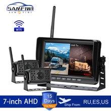 2ch AHD bezprzewodowy samochód ciężarowy DVR Monitor samochodowy ekran 7