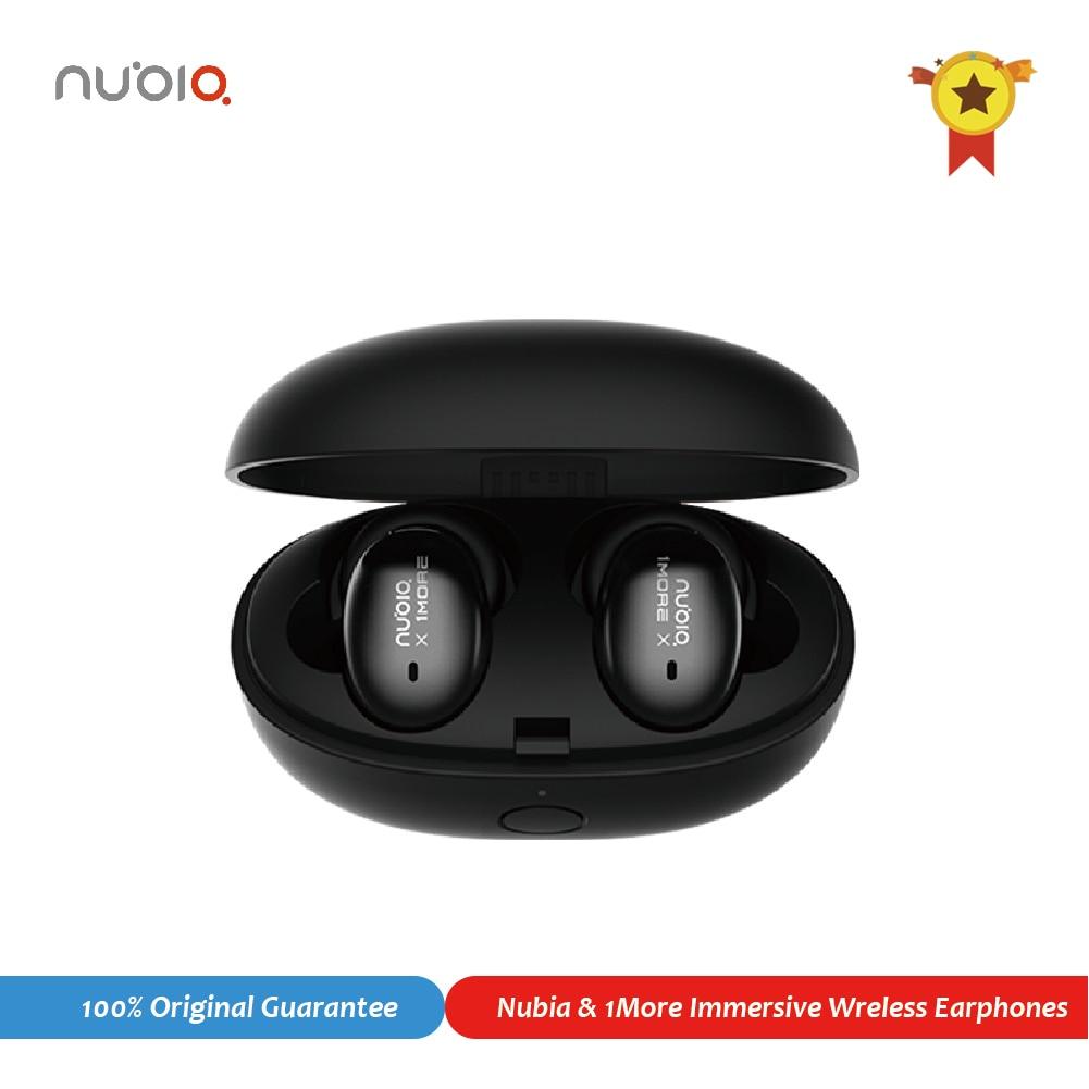 Original nubia & 1 mais ture fones de ouvido sem fio bluetooth 5.0 cancelamento ruído aptx hd controle toque som para android ios