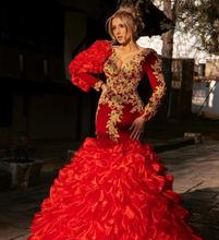 В мусульманском стиле с длинным рукавом вечернее платье Русалка