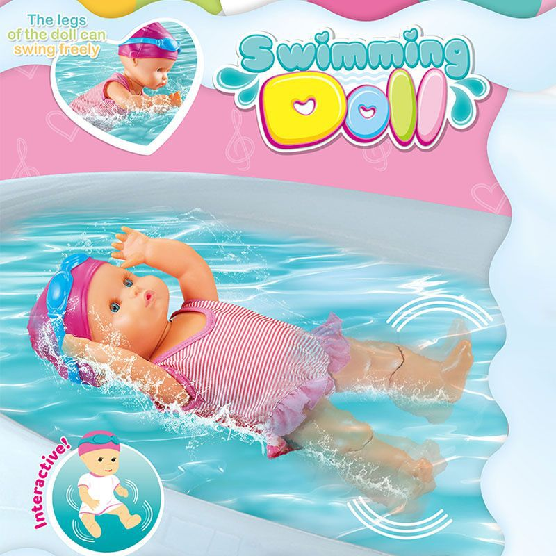 Automatic Swimming Styles Electric Waterproof Bathroom Beach Pool Summer Water Game Toy Baby Doll For Kids Children Gift