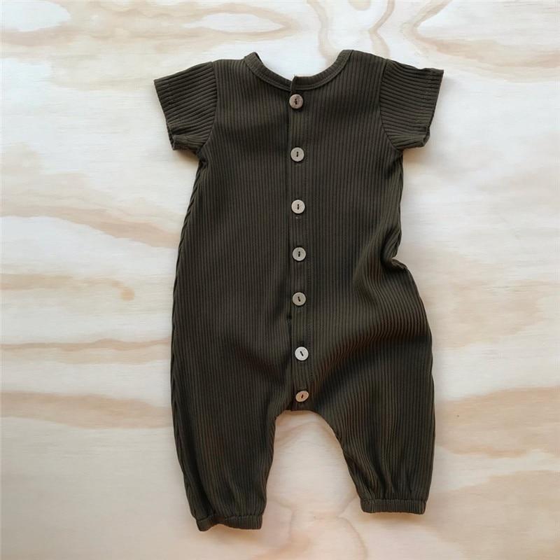 Рельефные летние комбинезоны для младенцев размером * ow, высококачественные модальные ребристые Комбинезоны для младенцев 4
