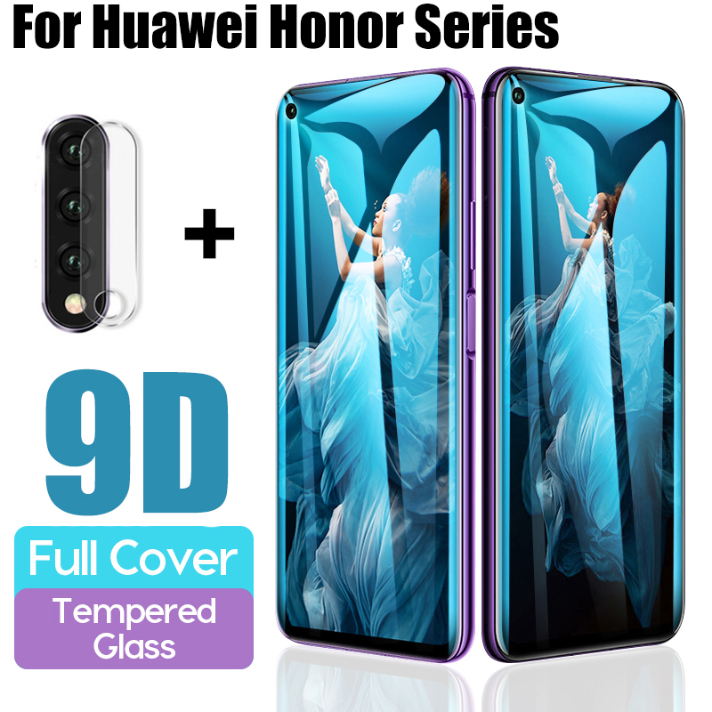 2 In 1 9D Tempered Glass For Huawei Honor 20 Camera Protector For Honor 10 Lite 20 Pro 10i Protective Glass Honor20 Lens Film