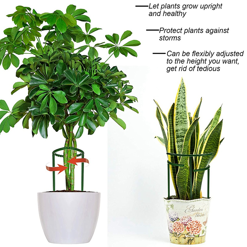 Plant Support Frame Plant Support Garden Flower Stand Semi-Circular Plant Support Ring Plastic Plant Cage Frame Flower Pot