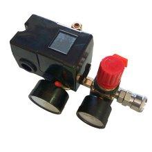 90-120PSI воздушный компрессор переключатель давления коллектор для клапанов манометры регулятора