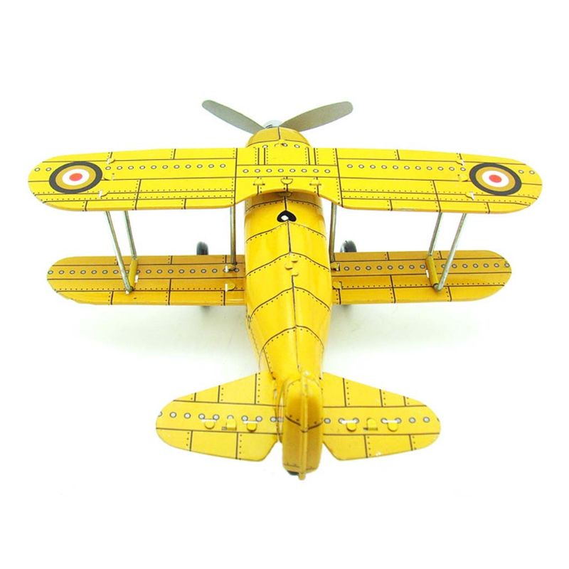 Vintage Mini Airplane Retro Metal Decorative Aircraft Model Handicraft Models DXAD image