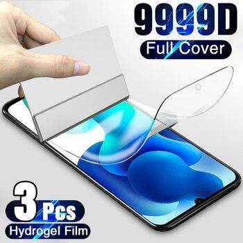 Screen Protector For Xiaomi Mi Note 10 10T Pro Lite Full Cover Hydrogel Film For Xiamo Mi 10 Lite 9 8 SE CC9 Pro A2 MIX 2 S 3 11 1