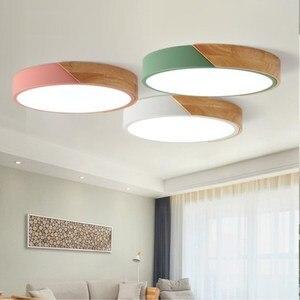 Image 2 - Luzes de teto led ultra fino moderno lâmpada do teto nordic regulável sala estar quarto luz redonda luminária superfície montado