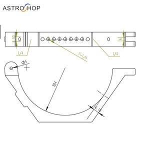 Image 3 - Anneaux de fixation pour Tube télescope (la paire) 166mm