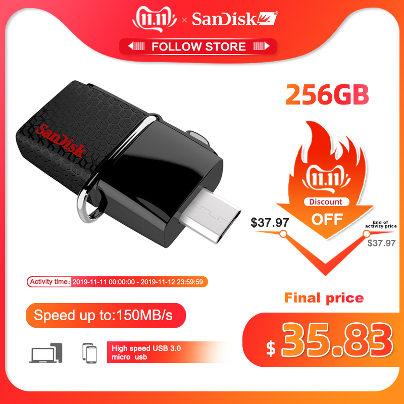 SanDisk  Pen Drive 128GB 256GB 150mb/s 3.0 Usb Flash Drive 16GB  Pendrive 32GB  64GB  Memory Usb Stick For SmartPhone/Tablet/PC