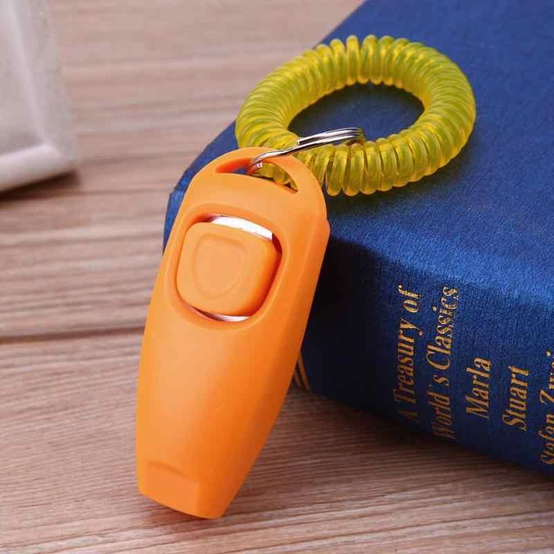 Silbatos clave perro Clicker para mascotas adiestramiento de perros y correa de muñeca para entrenamientos de perros productos