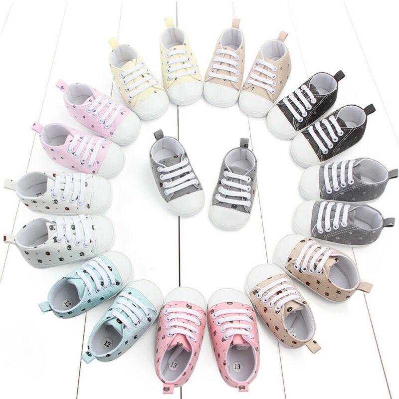 Newborn Baby Casual Shoes Toddler Girls Boys Cartoon Animal Print Crib Sneakers Pram Soft Sole Prewalker Anti-slip Shoes