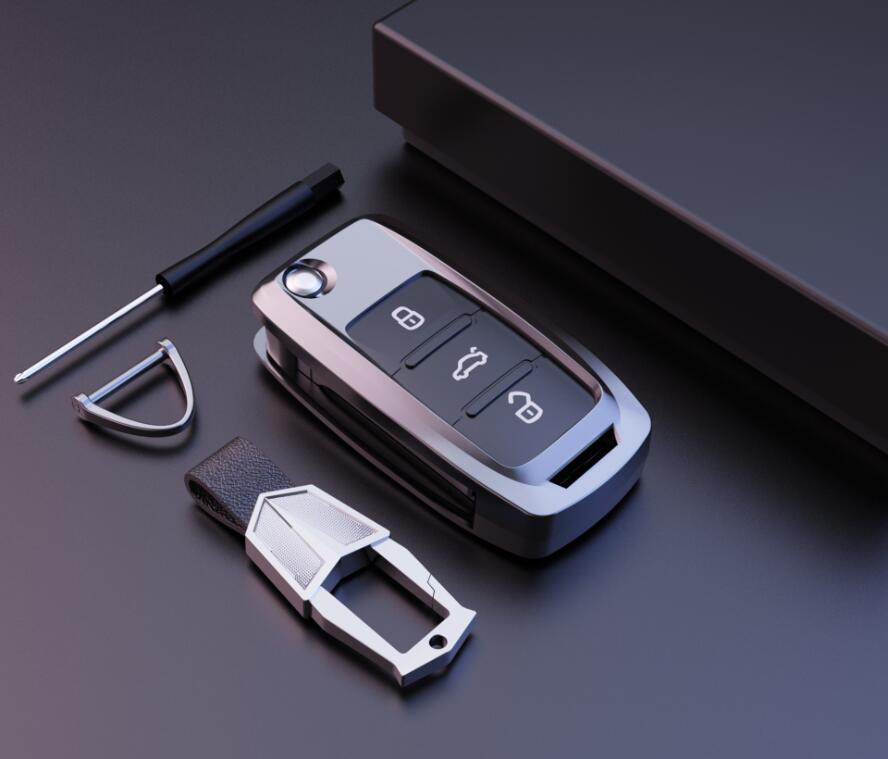 lowest price High Quality Mature Carbon Fiber Matte Car Key Case For Honda Hrv Civic 2017 Accord 2003-2007 Crv Freed Pilot car accessories