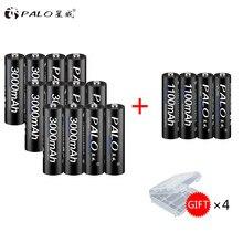 12 pièces AA batterie Rechargeable 1.2V NiMH AA 3000mAh batterie Rechargeable pré-chargée piles AAA 1100mah pour appareil photo