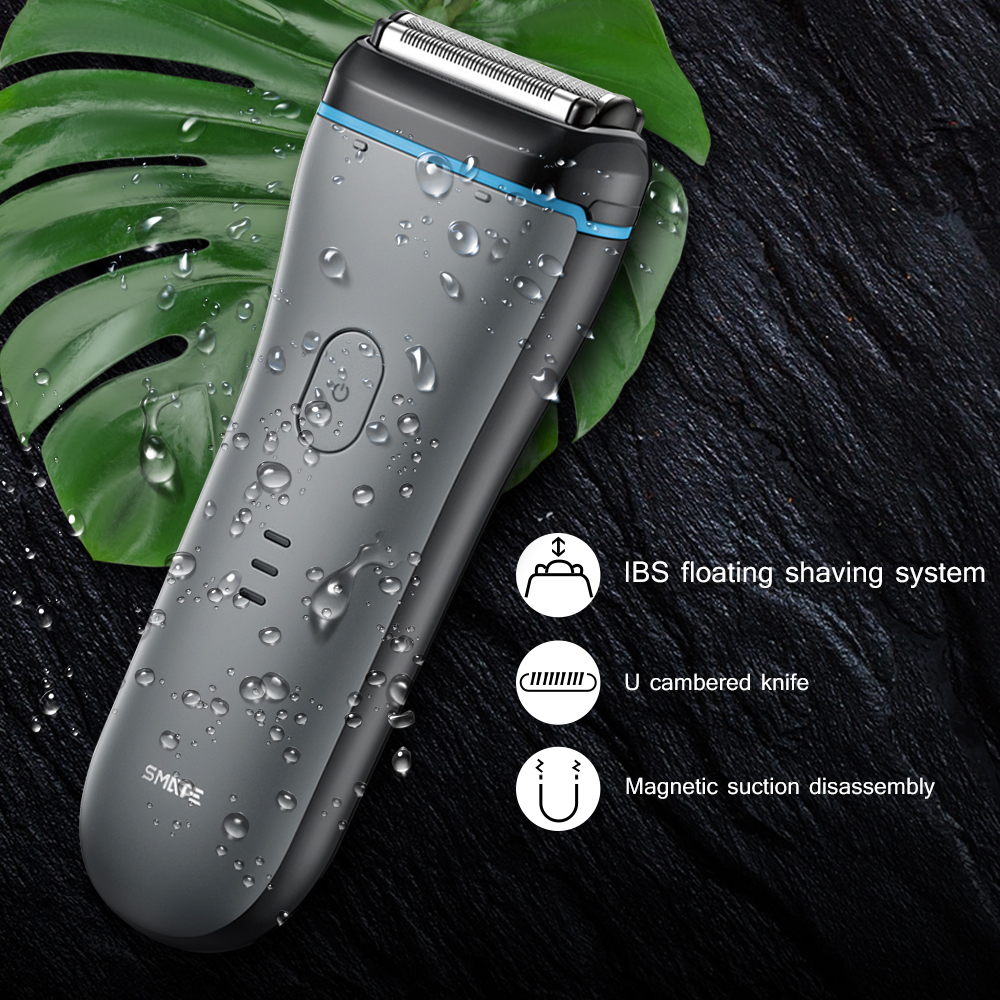 Original SMATE ST - W382 Electric Shavers Portable Strong Power IPX7 Waterproof Men'S Electric Razor Magnetic Cutter Head