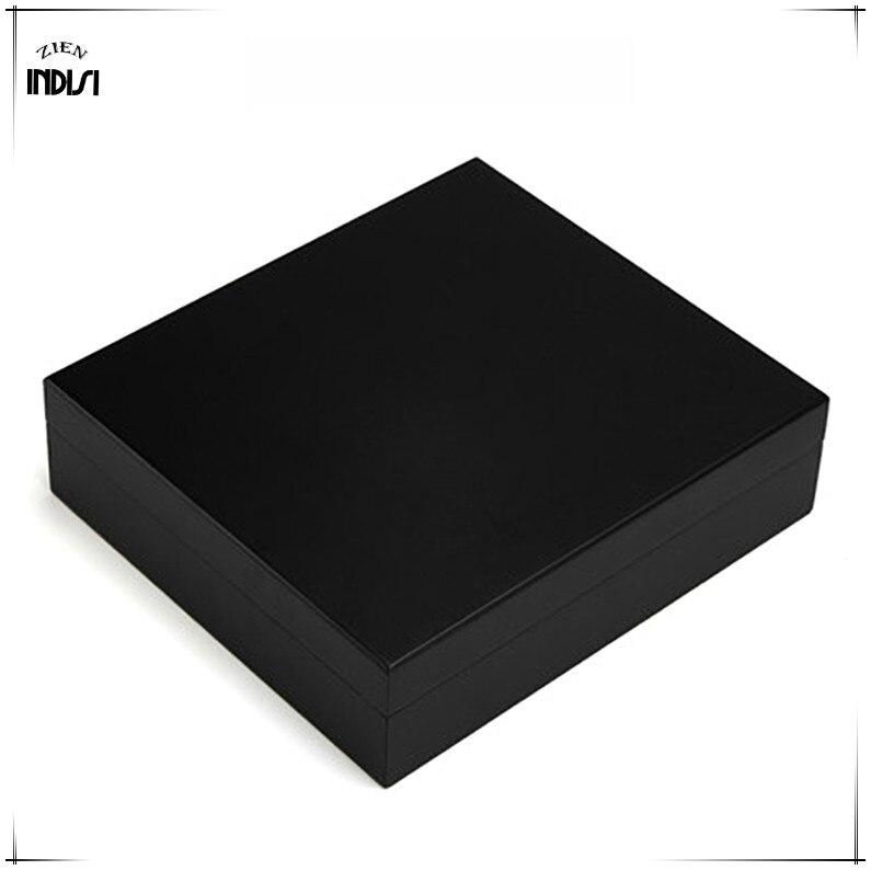 Madera de cedro viaje humidificador imanes higrómetro humidificador para Cohiba humidificador de puros caja de Navidad H 008