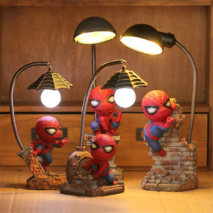 Image 5 - Super Spiderman Avengers Union 3 LED Light Night เรซิ่นหัตถกรรมเด็กเดสก์ท็อปตารางโคมไฟ Figurines วันเกิด Xmas งานแต่งงานของขวัญ