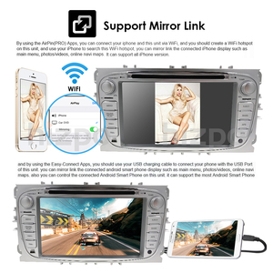 Image 5 - 2 din DSP Android 10.0 Car DVD Multimedia Player GPS Navi For Ford For Focus2 Mondeo Galaxy Wifi Audio Radio Stereo Head Unit 4G