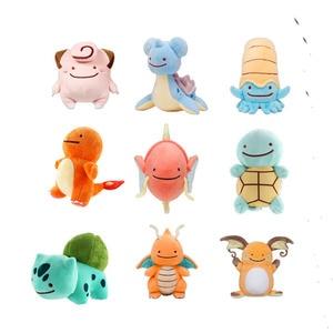 6 Styles Hot Toys Peluche DITTO Lapras Dragonite Pikachu Squirtle Bulbasaur Charmander 12-16CM Plush Doll Pokemon Pikachu