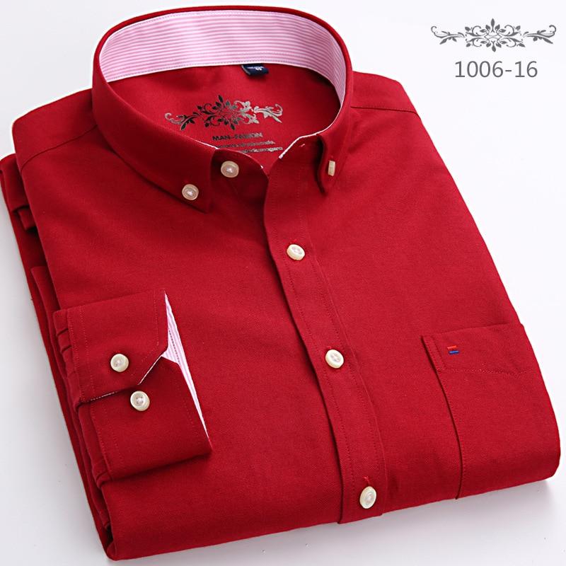 Oxford Men's Fashion Long Sleeve Shirts Men Men's Clothings Men's Shirts Men's Tops