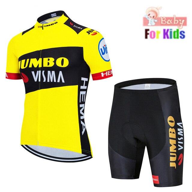 2020 strava equipe respirável secagem rápida crianças conjunto de camisa ciclismo da bicicleta das crianças meninos meninas roupas verão bicicleta wear 2