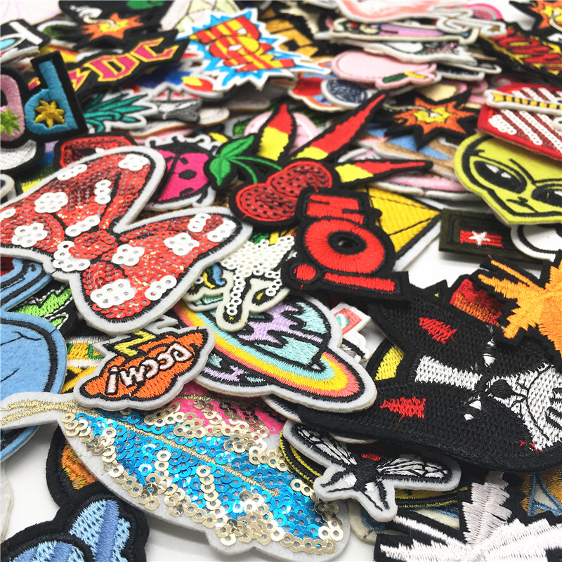 30PCS lot Embroidery Patches Mixed Random Cute Cartoon Iron On Patches for Clothing Stickers On Clothes Kids Jeans Summer Style in Patches from Home Garden