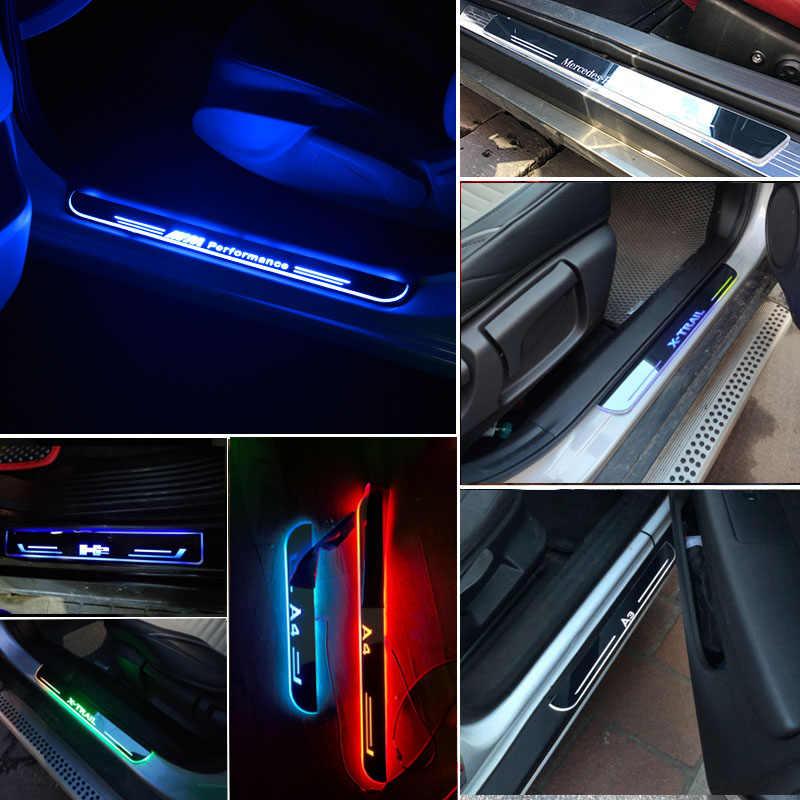 Динамический светильник, Накладка на порог двери автомобиля, накладка на педаль для Subaru Forester SF SG SH SJ SK