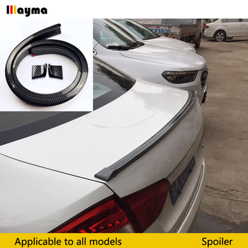 M2 M3 M4 Z4 E90 E92 F22 F30 F32 F10 F80 F82 G30 Rubber Fake Carbon Fiber Sport style Rear lip Spoiler Roof Wing for BMW Any Car image