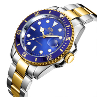 Men Automatic Self Wind Mechanical Stainless Steel Strap Gold Silver Blue Green Red Black Dial Date Strong Luminous Luxury Watch|Mechanical Watches|   -