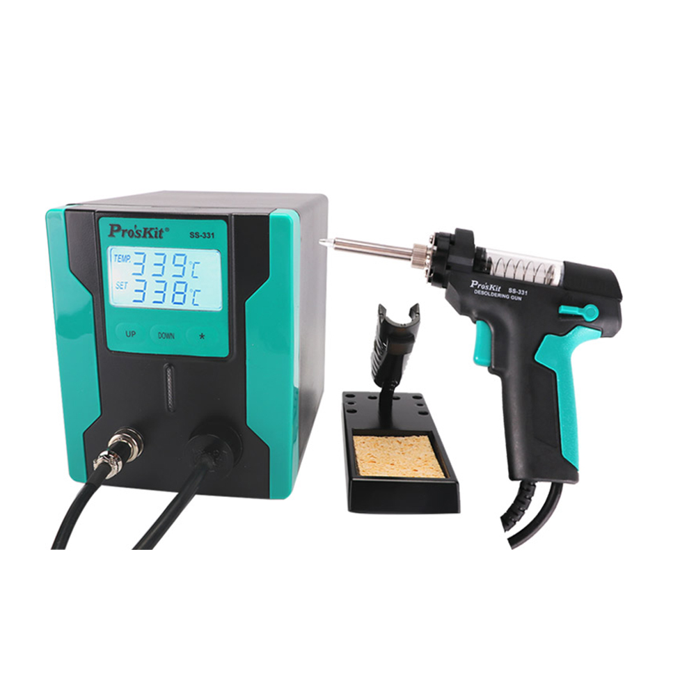 Electric tin suction pump Pro'sKit SS-331H ESD LCD Digital BGA Desoldering Suction Electric Absorb sleeping function