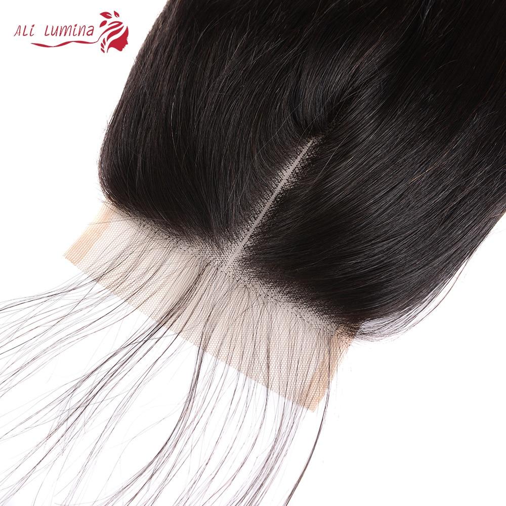4x4 Lace Closure 100%  Closure  Sample     Hair Straight Frontal 8 Inches Short Hair 2