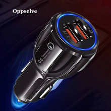 Mini USB Car Charger For Mobile Phone Tablet GPS Quick Charge 3.0 Fast Charging 2 Dual Port USB Car Phone Charger Adapter in Car quick charge 3 0 car charger for mobile phone dual usb car charger qc 3 0 fast charging adapter mini usb car charger